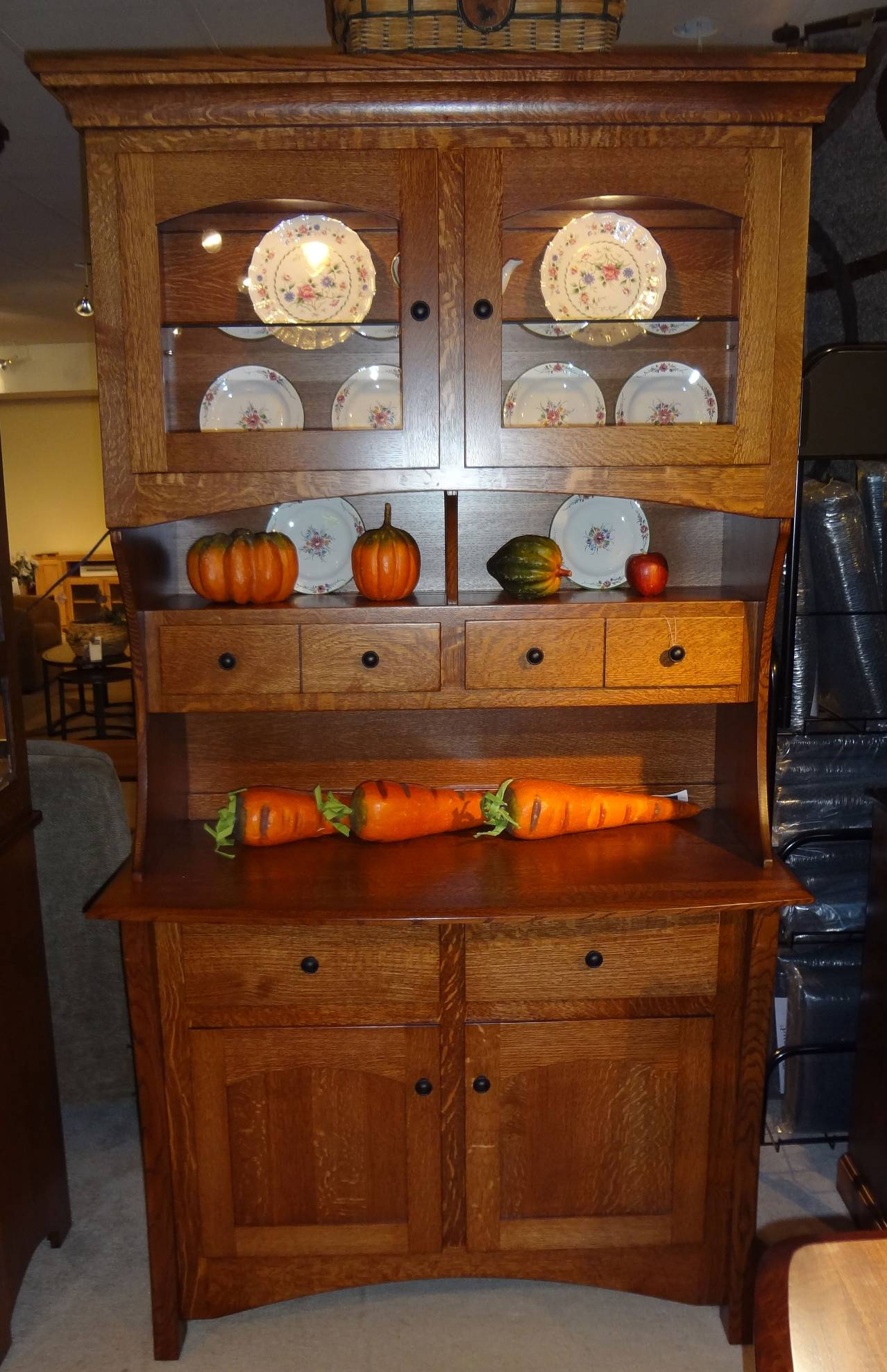 Amish Buffet And Hutch Master 2 Door