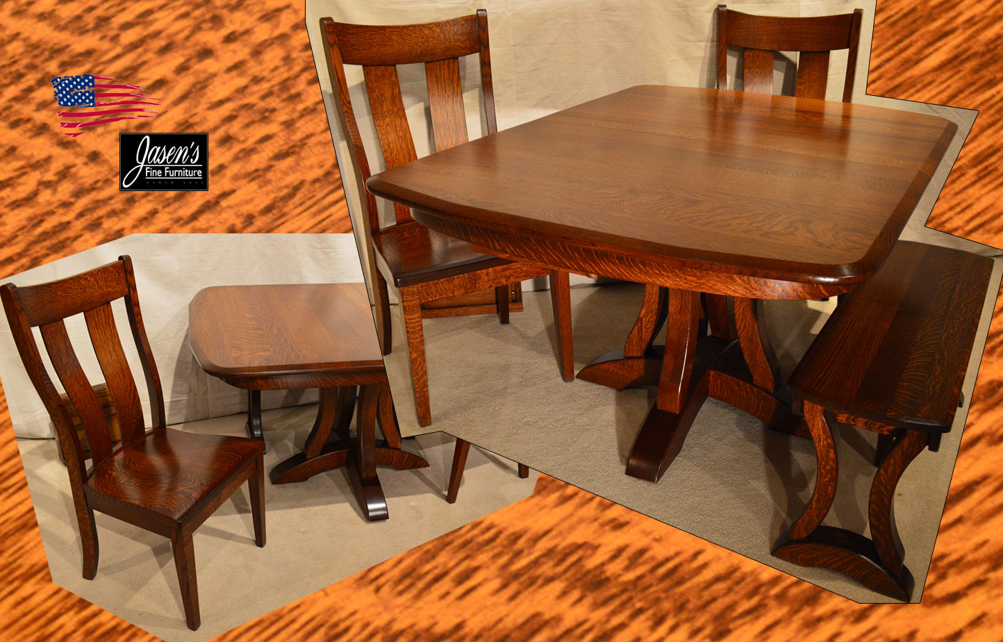 Amish Richfield Table Amp Side Chairs Jasens Furniture Roseville Mi