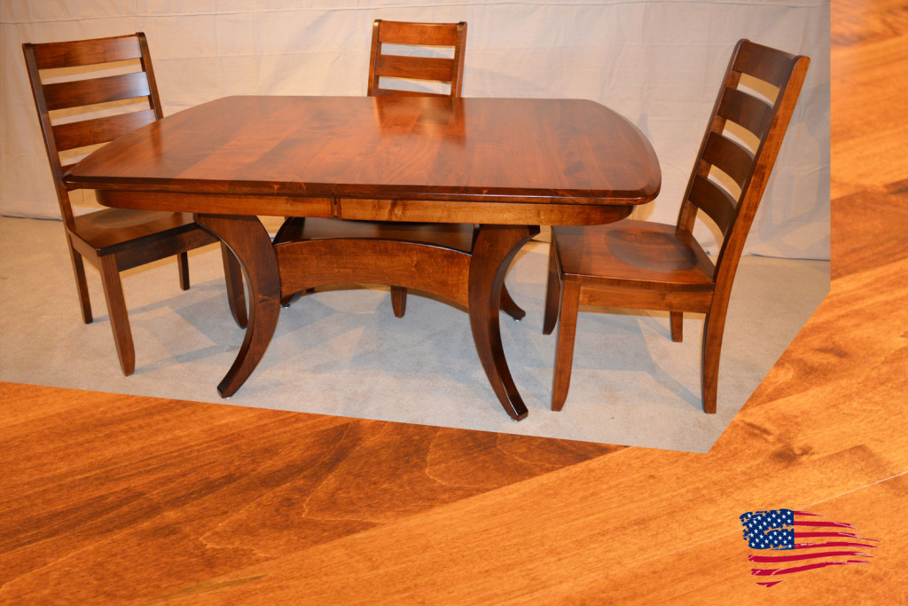 Amish Galveston Table Dutch Ladder Chairs