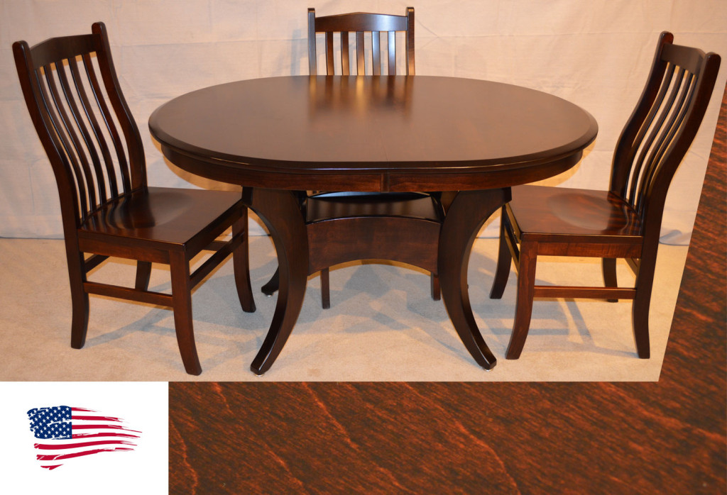 Brown Maple Galveston Table Amish Dining Furniture