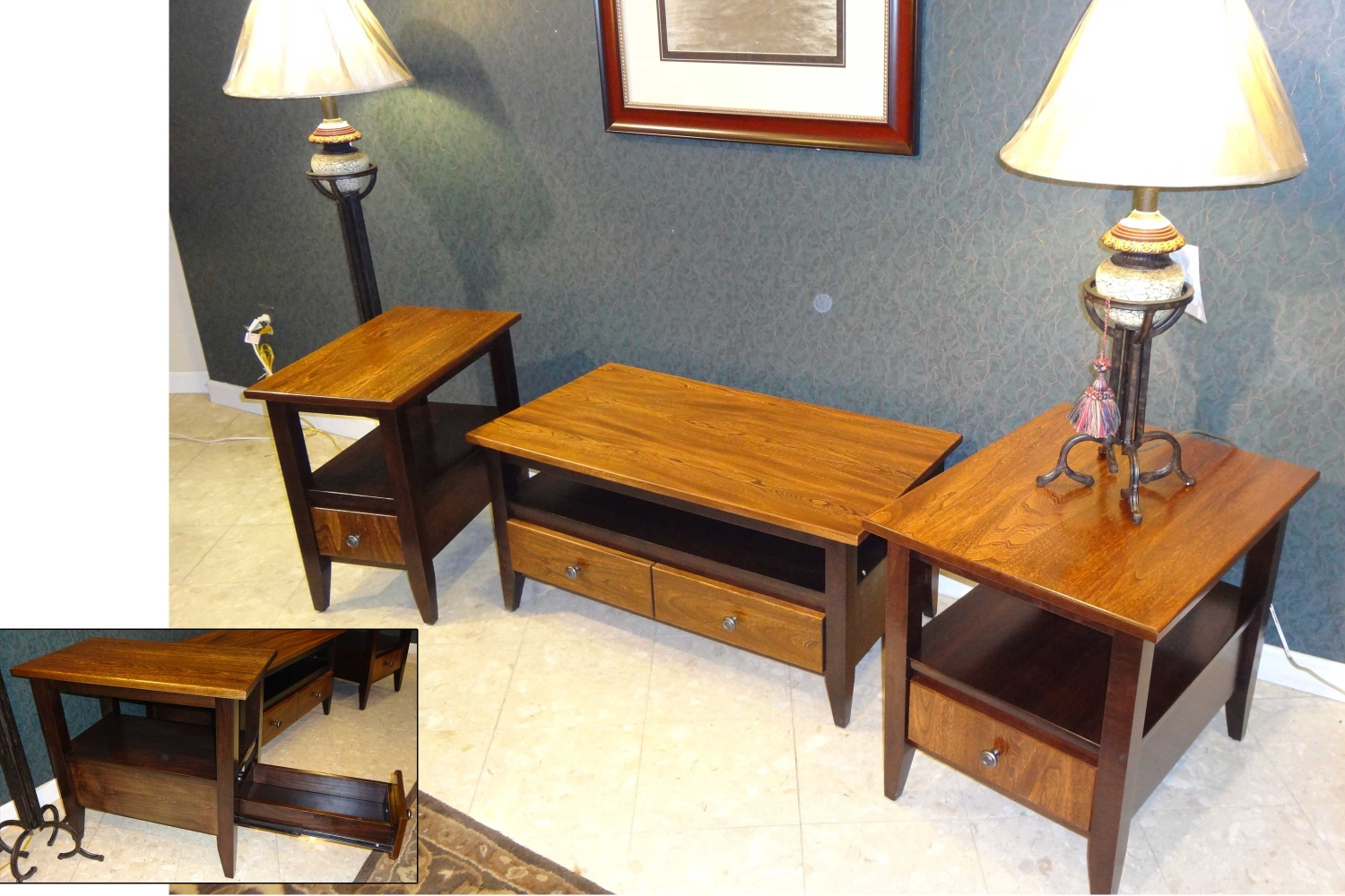 amish furniture elm and maple tables