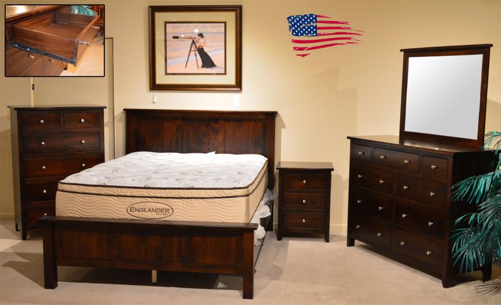 amish maple bedroom