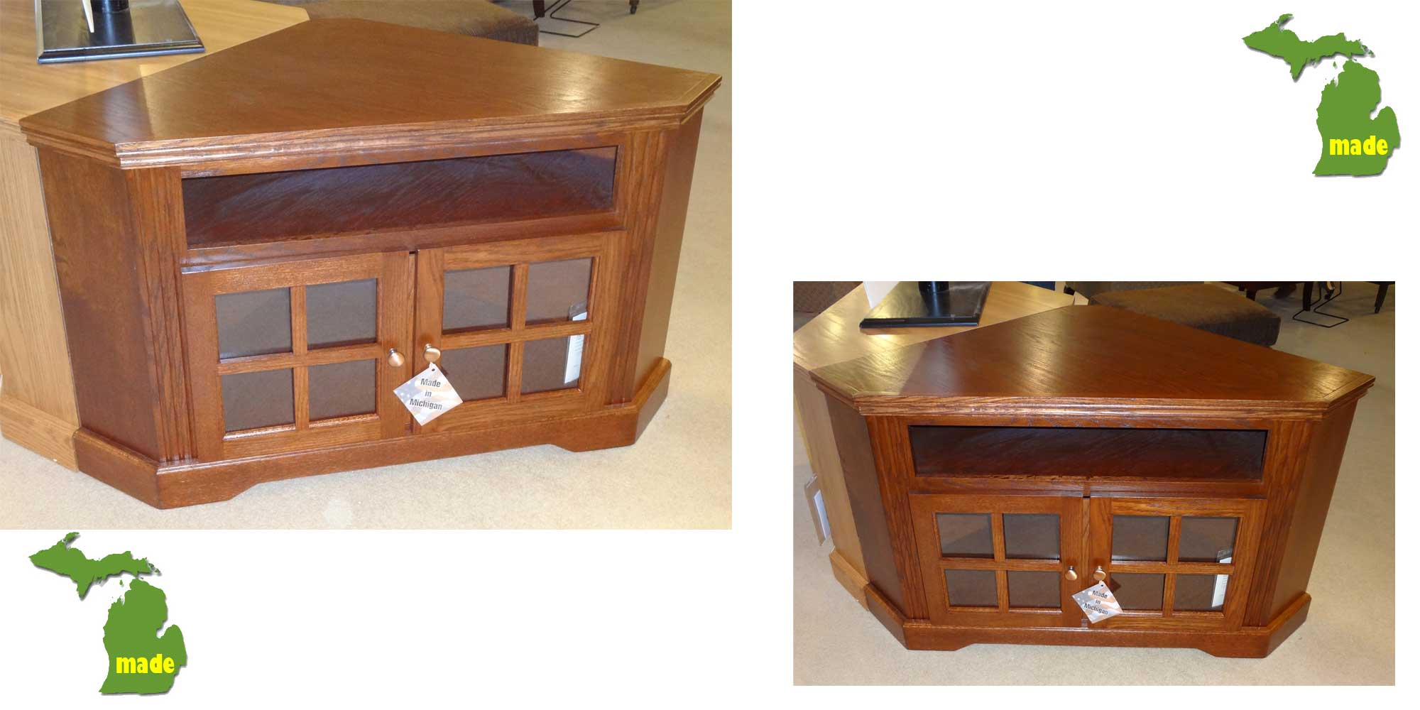 Made in Michigan Furniture Corner Entertainment Console