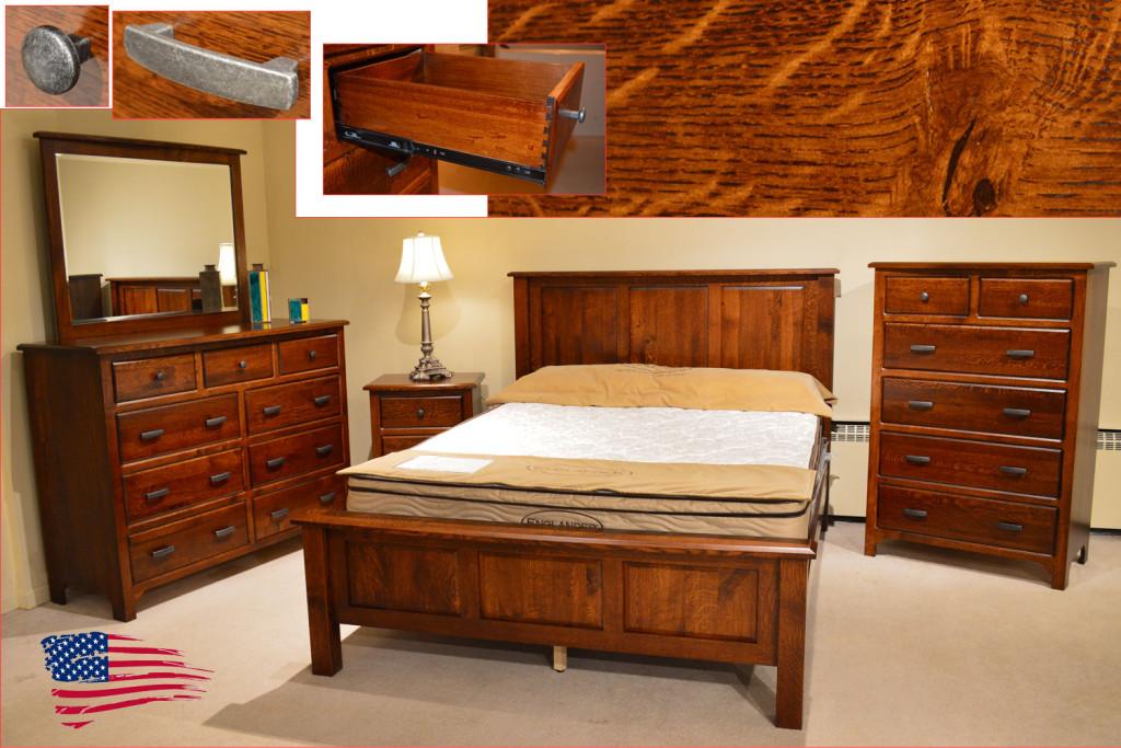 amish rustic quarter sawn oak bedroom