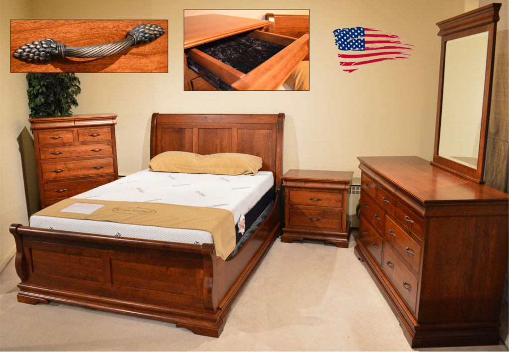 Amish Sleigh Rustic Cherry Bedroom