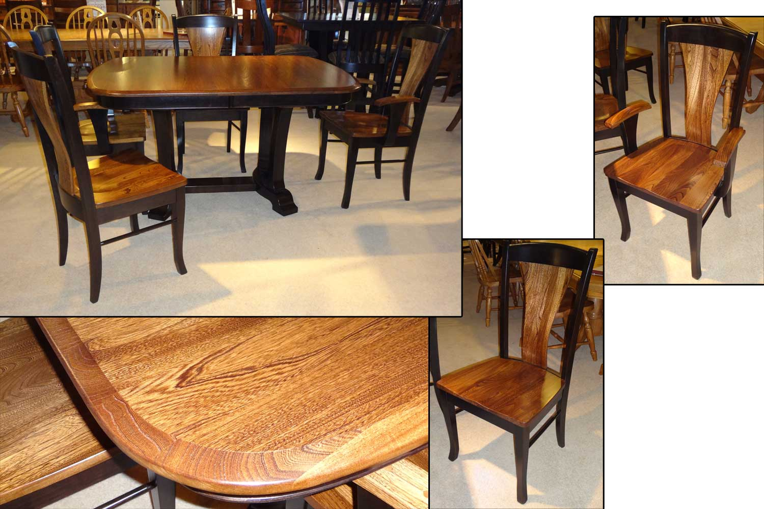 Amish Master Dining Table Woodville Chairs