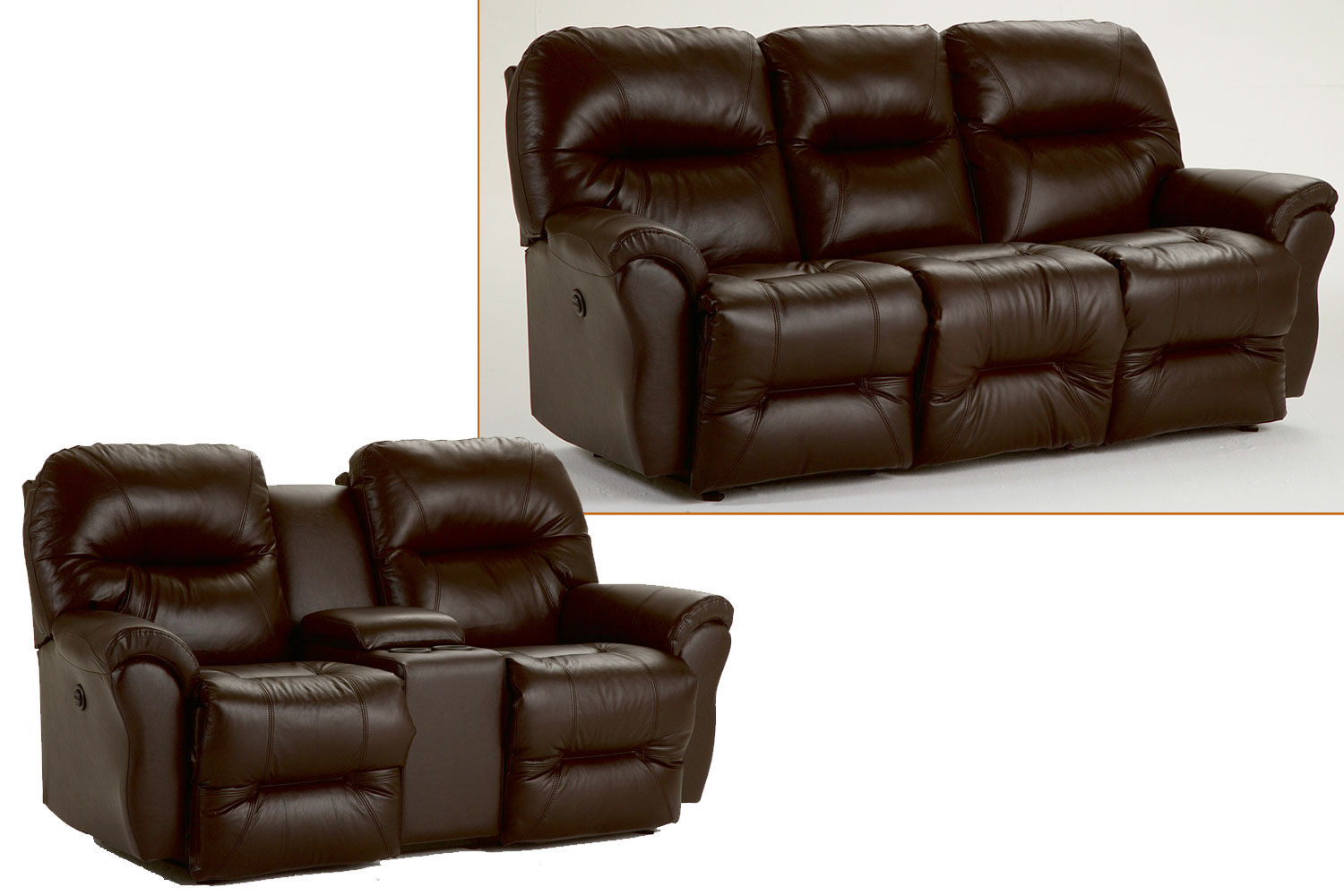 Reclining jasen 39 s fine furniture since 1951 Leather loveseat recliners