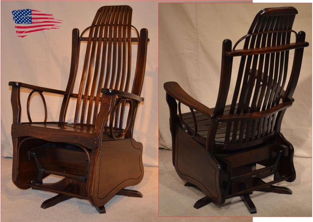 Amish Maple Swivel Glider