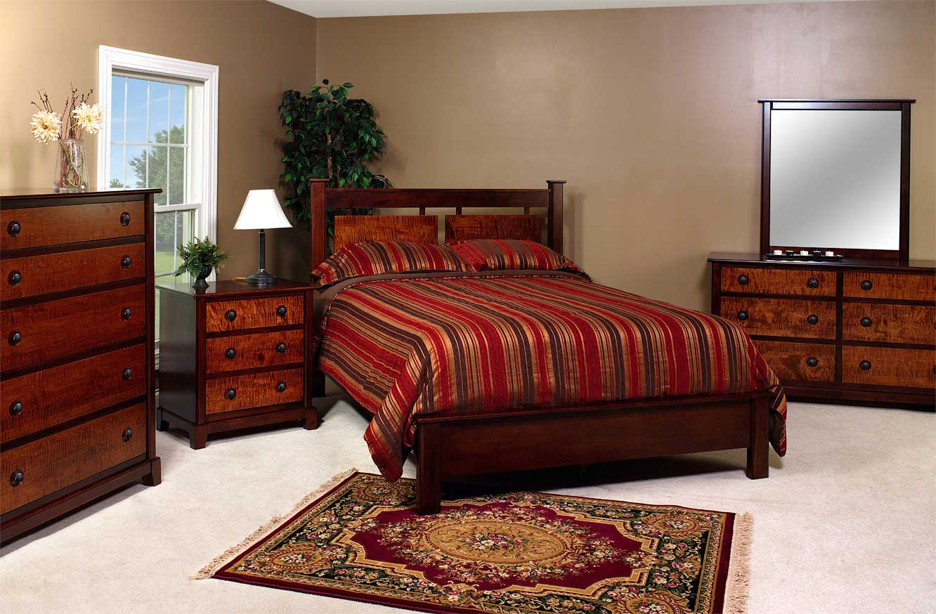 - Amish Tiger Maple Bedroom
