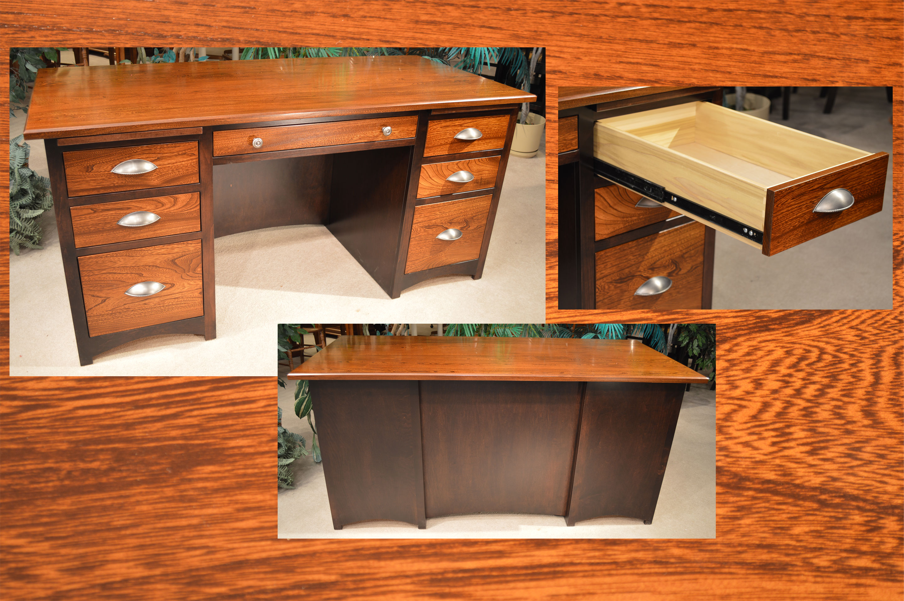 Amish Elm Maple Executive Desk Jasen S Fine Furniture Since 1951
