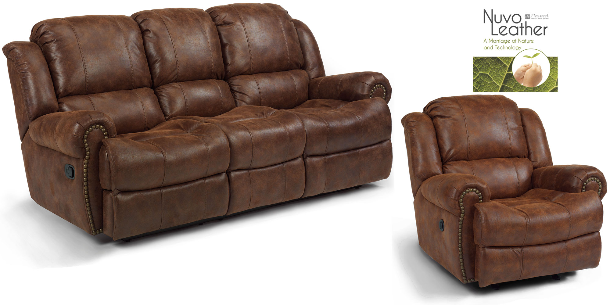 100 Flexsteel Vail Sofa Leather