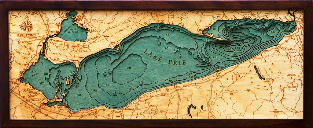 Lake Erie Wood Chart