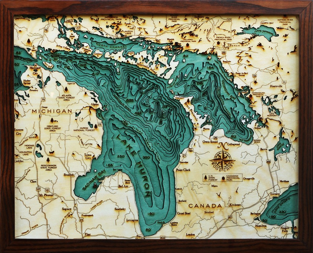 lake huron wood chart LH-D2S