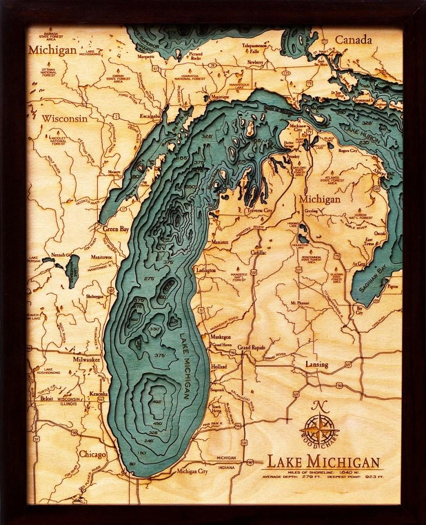 Lake Michigan Wood Chart