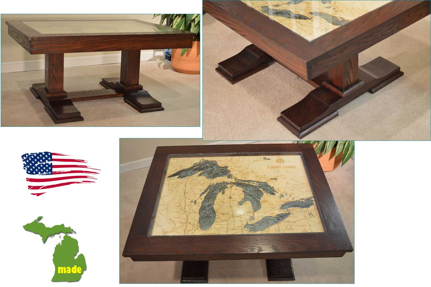 Made In Michigan Great Lakes Table Jasen S Furniture