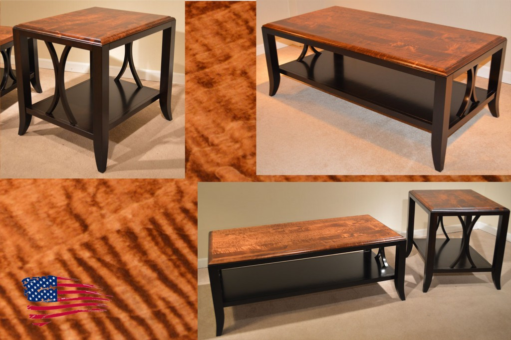 amish tiger maple tables