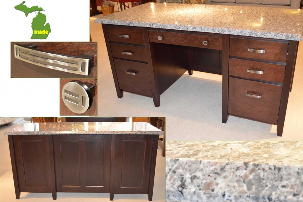 Michigan Granite Executive Desk