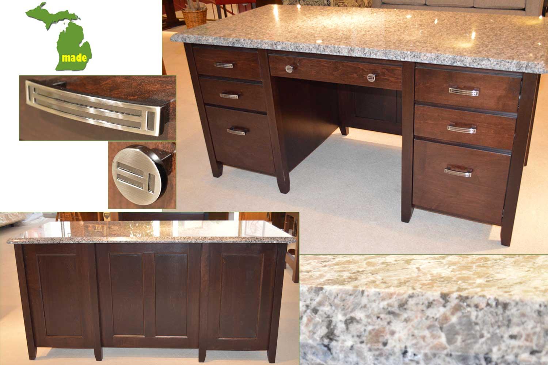Michigan Granite Executive Desk
