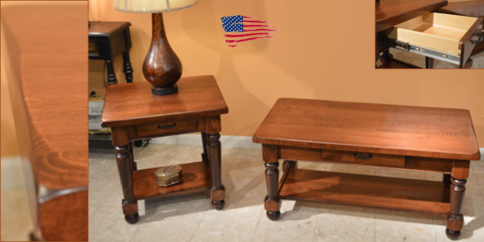 amish turned leg tables