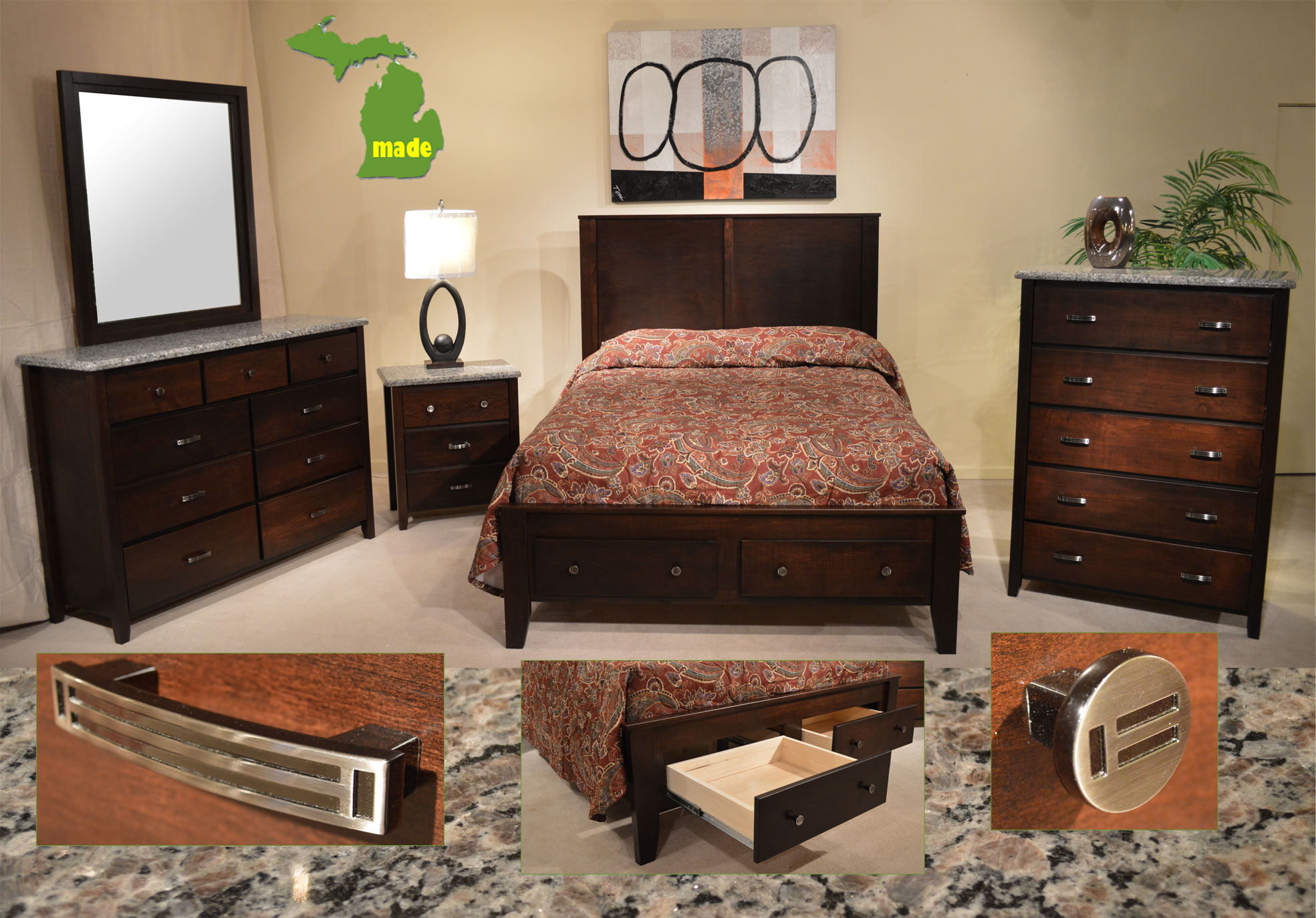 Michigan granite contempo bedroom jasen 39 s fine furniture - Bedroom furniture stores michigan ...