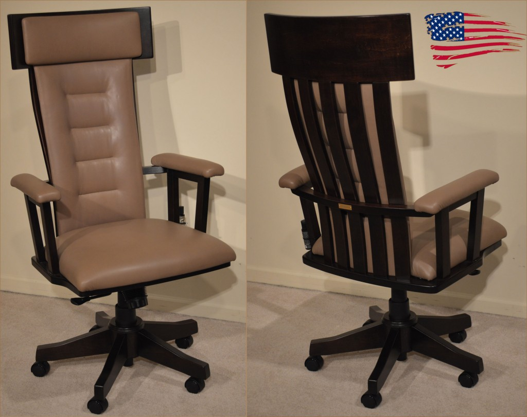 Contemporary Amish Office Chair