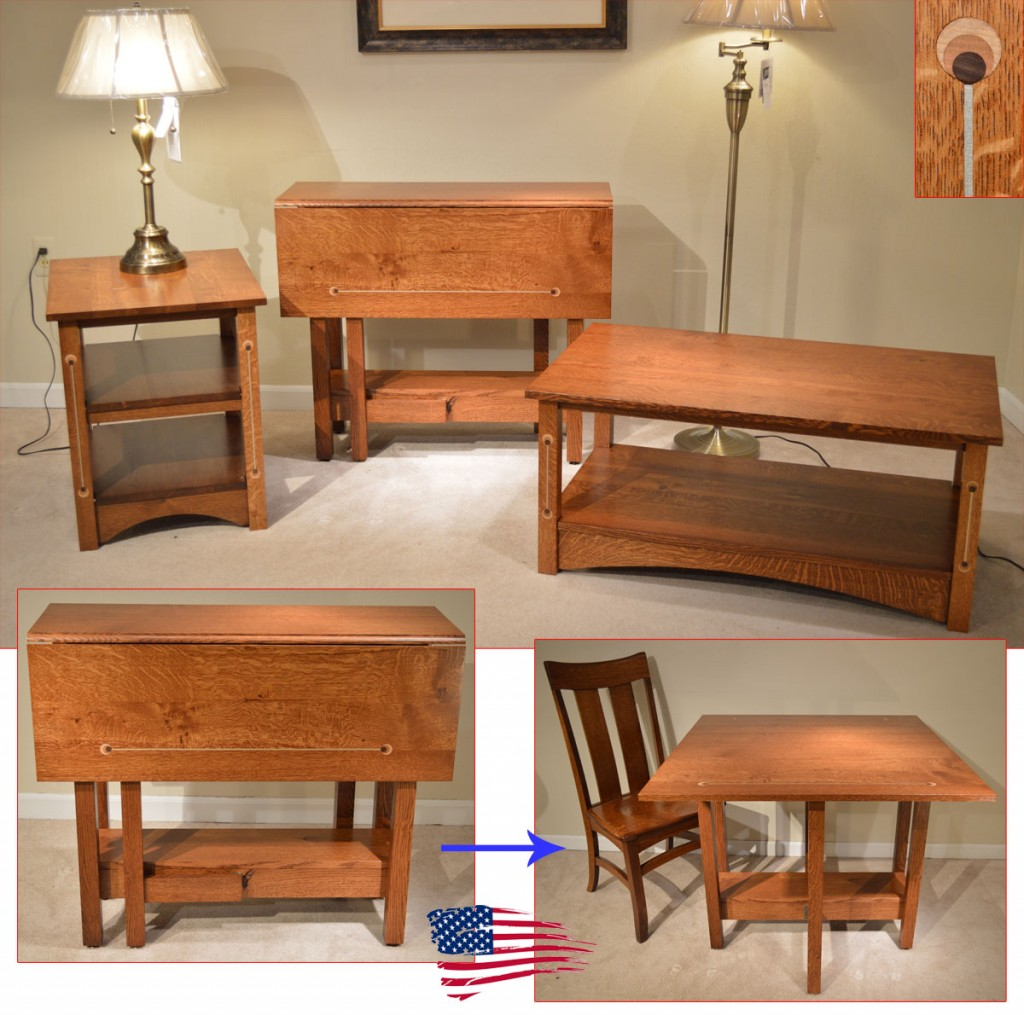 Amish Mission Inlay Tables