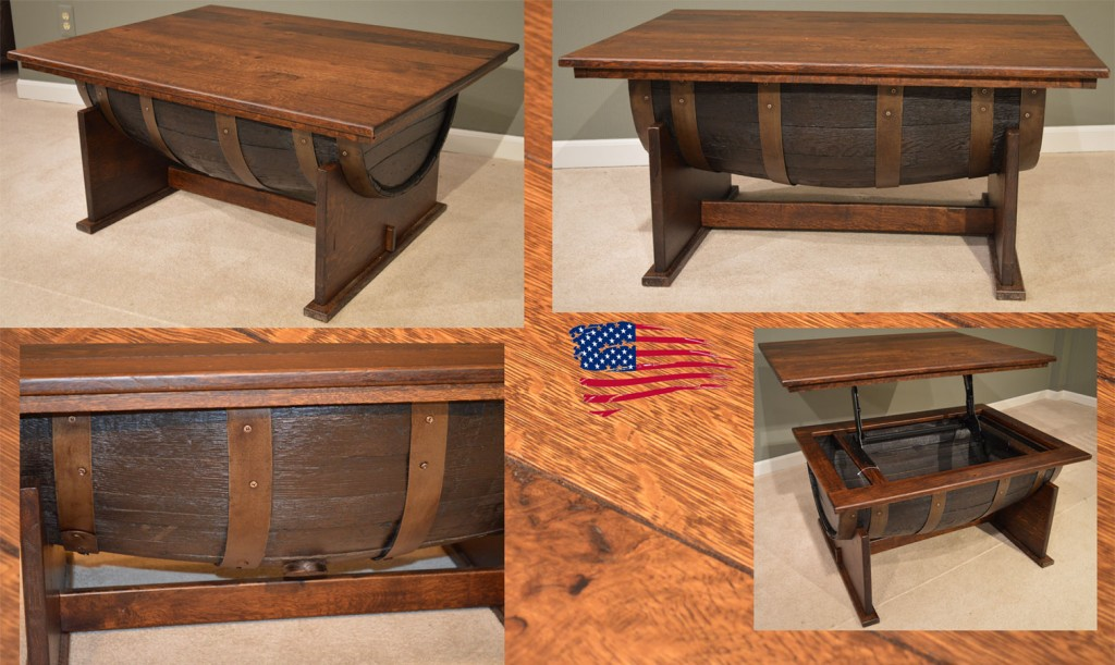 amish barrel coffee table
