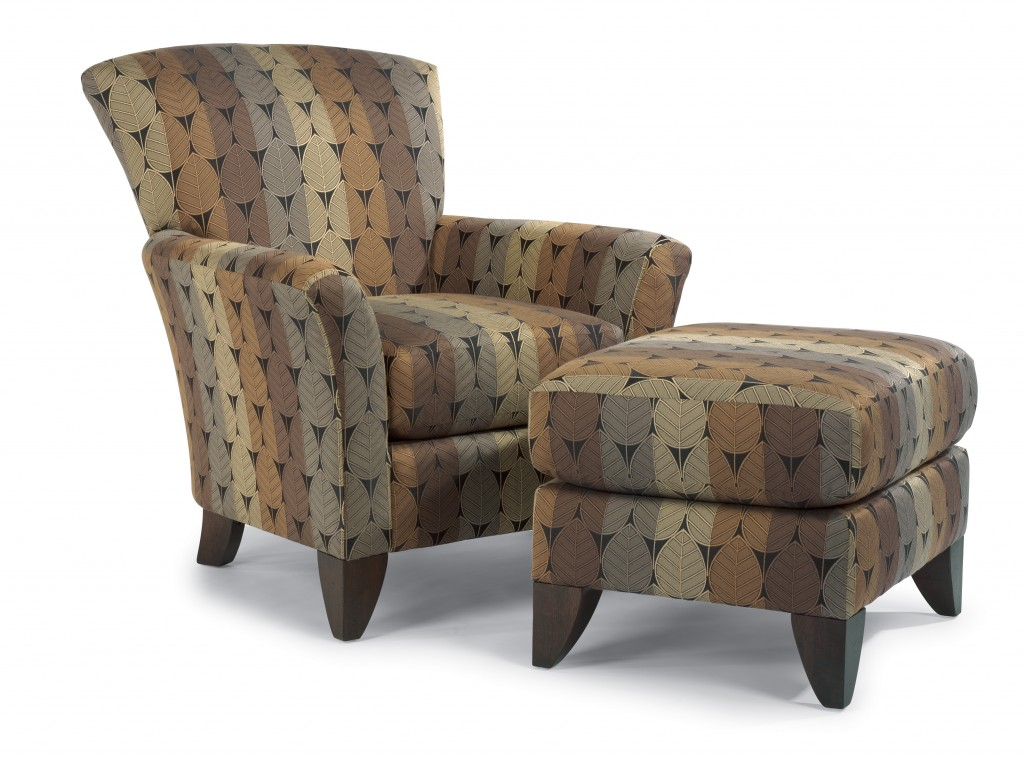 Accent chair with ottoman attractive accent chair decor for Navy blue chair and ottoman