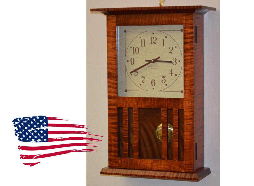 amish tiger maple clock