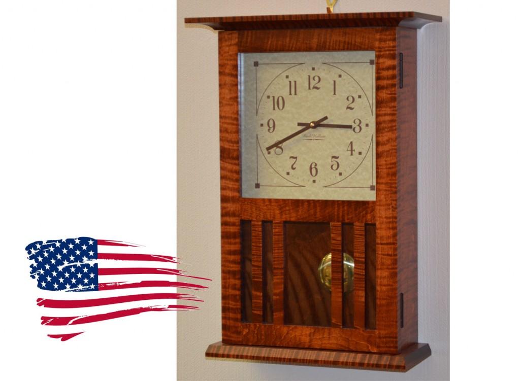 amish tiger maple clock