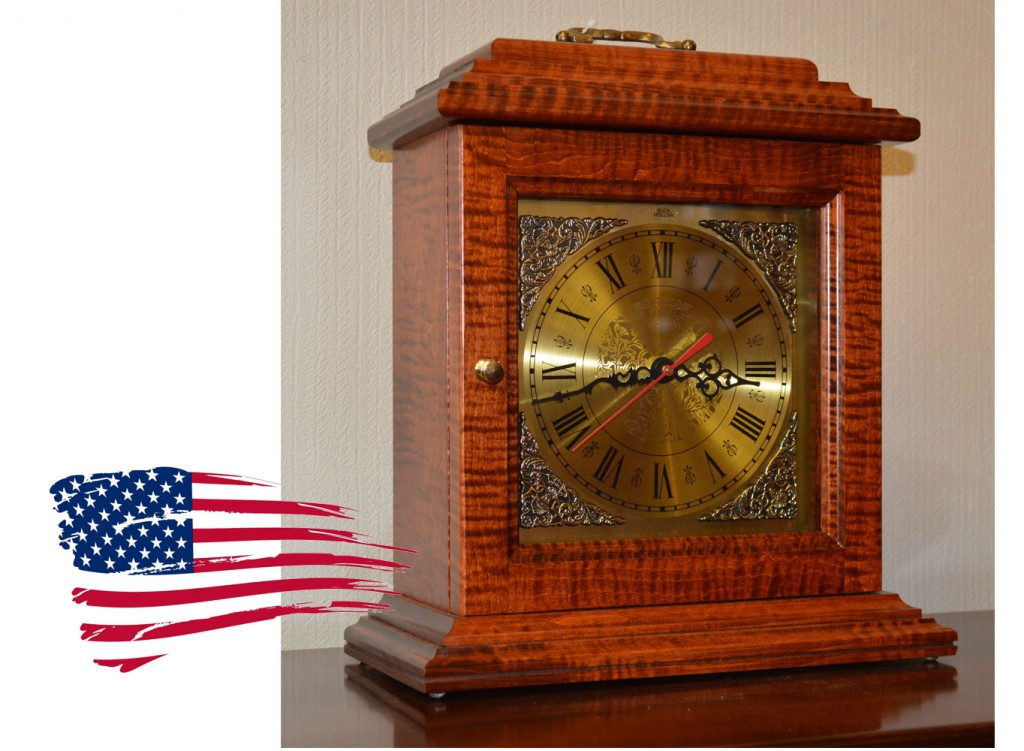 Amish Tiger Maple Mantle Clock