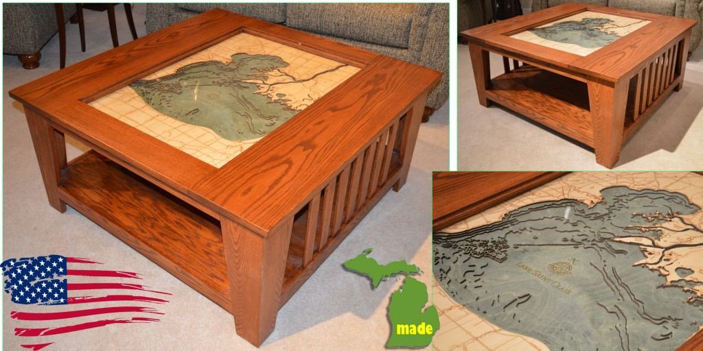 michigan lake st clair coffee table