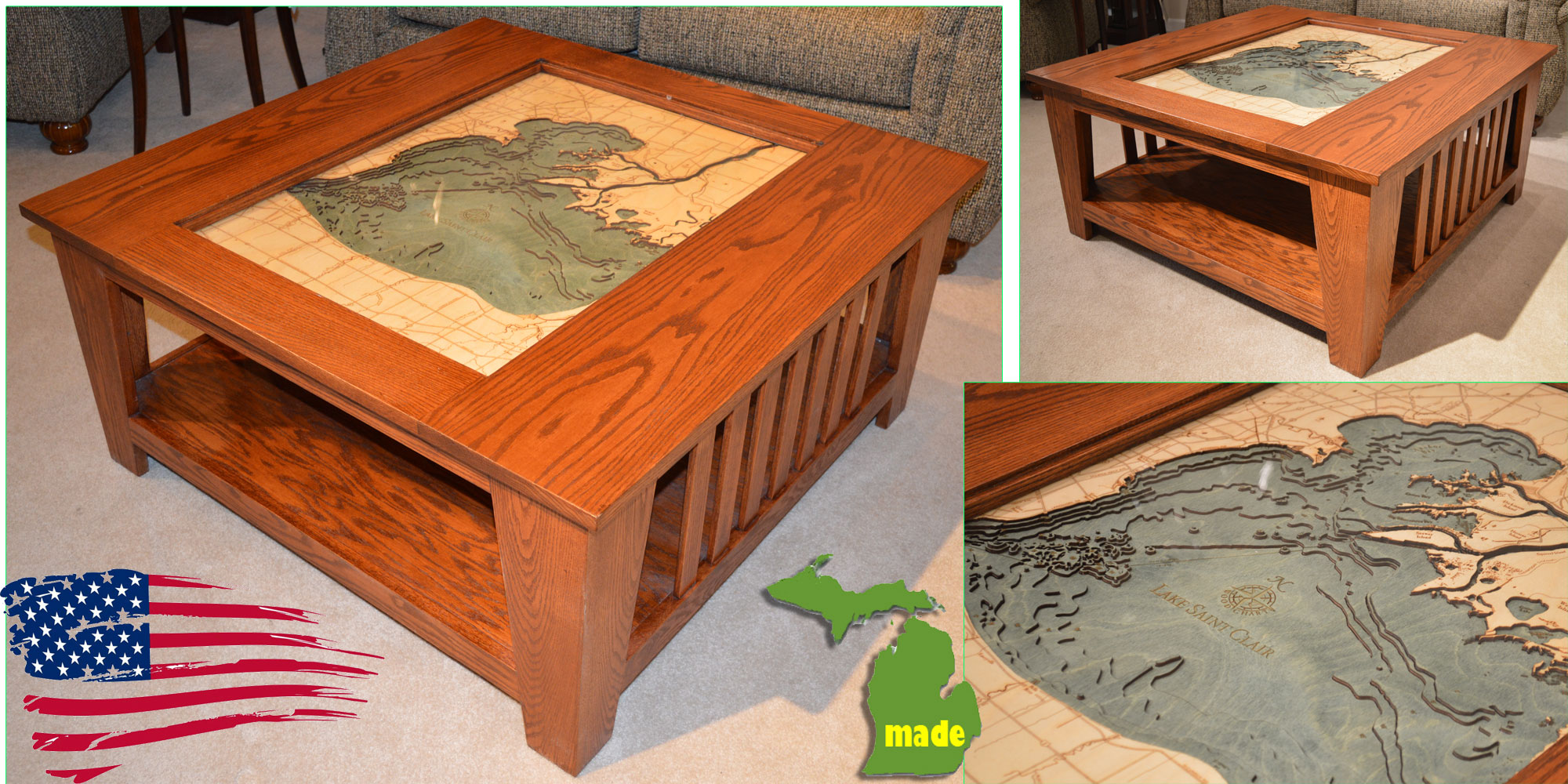 Michigan Lake St Clair Coffee Table Jasen S Fine