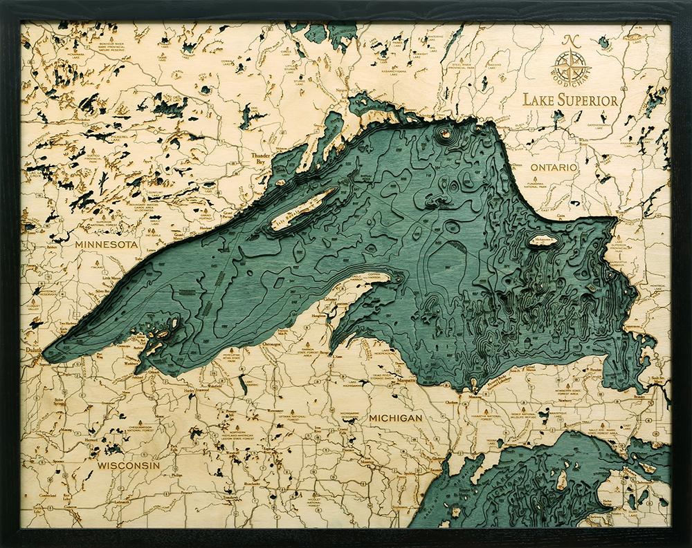 Wood Chart Lake Superior NLSP D4L