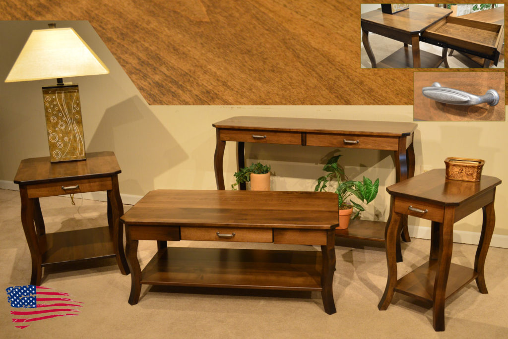 amish cappuccino tables