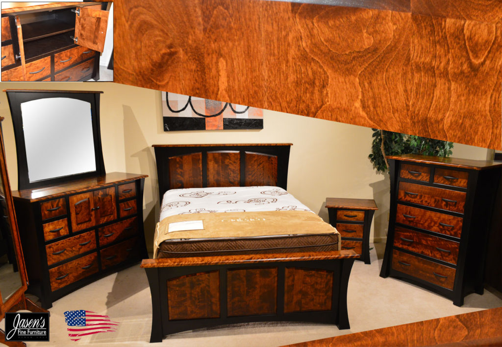 amish flame birch bedroom
