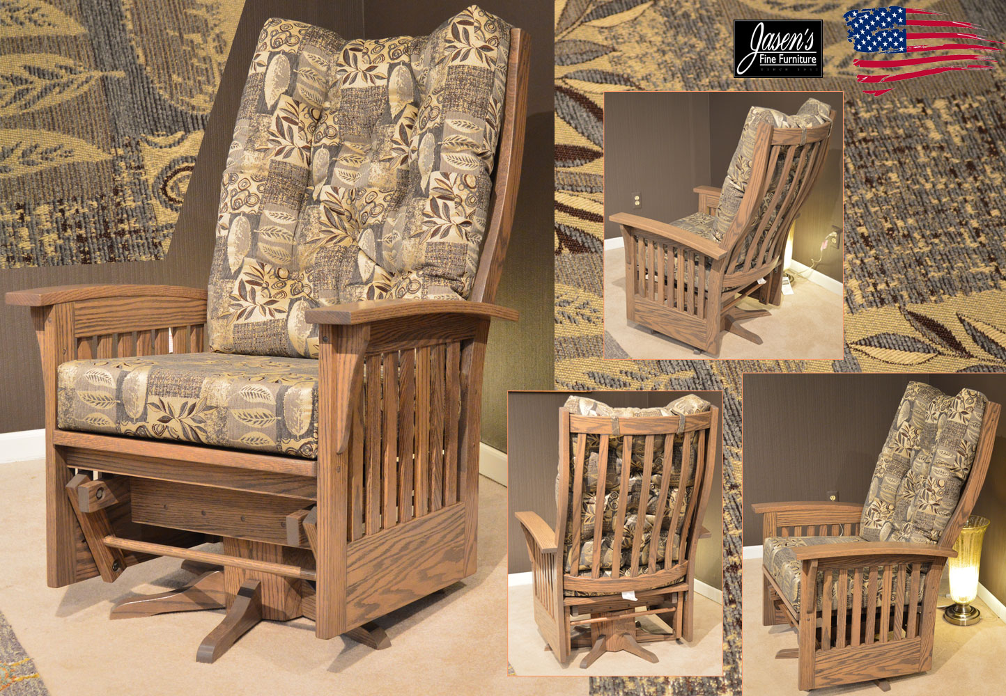 Amish Jumbo Glider Jasen S Fine Furniture Since 1951