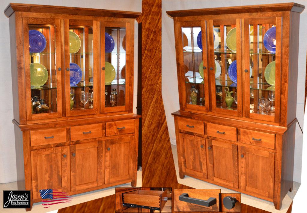 amish long door buffet