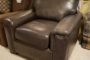 Flexsteel Grey Leather Chair