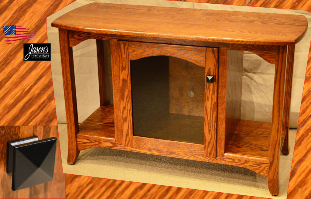 Amish Oak TV Stand