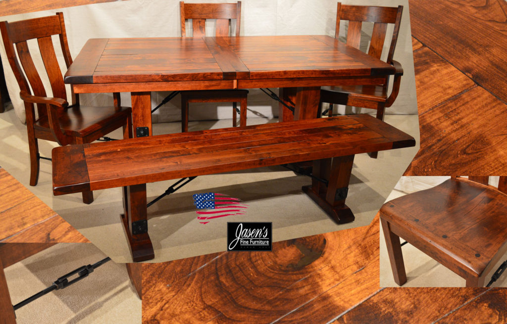 amish barn floor dining table