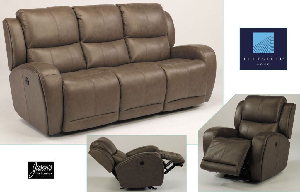 Flexsteel leather sofas jasens furniture marine city michigan for Leather sofa michigan