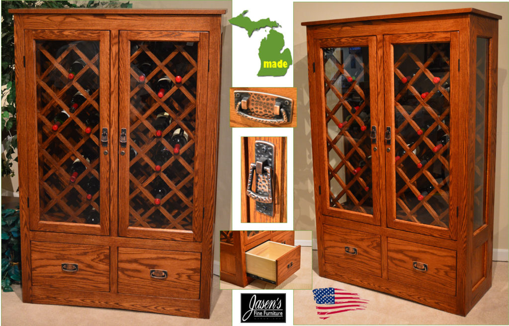 michigan wine cabinet