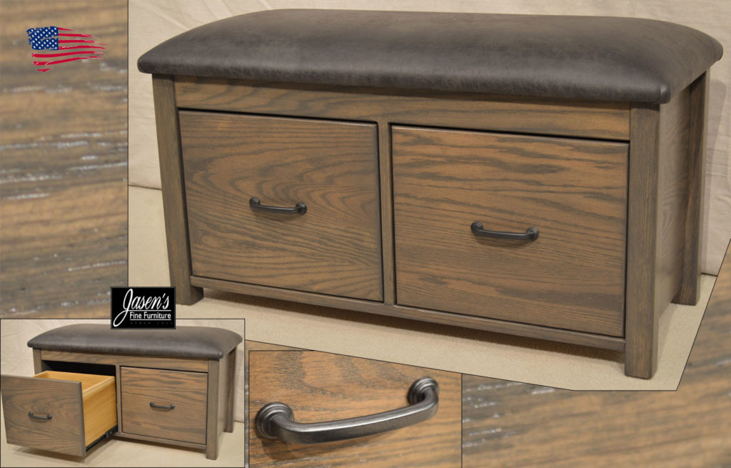 amish drawer bench