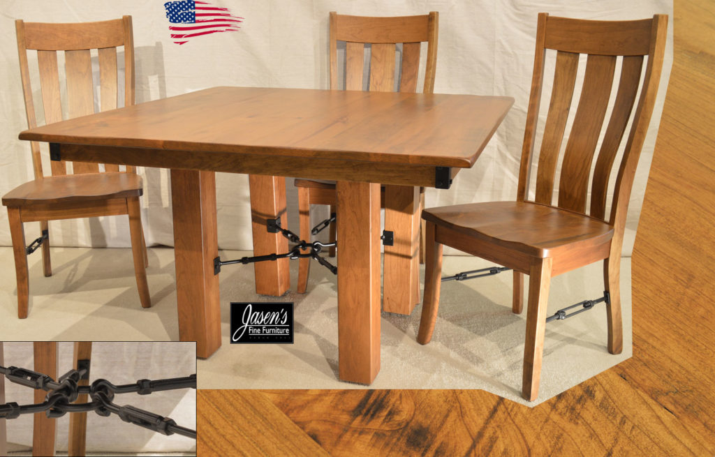 amish rustic dining table