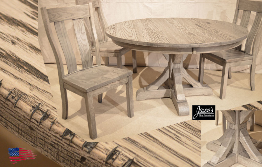 amish old dusk dining table