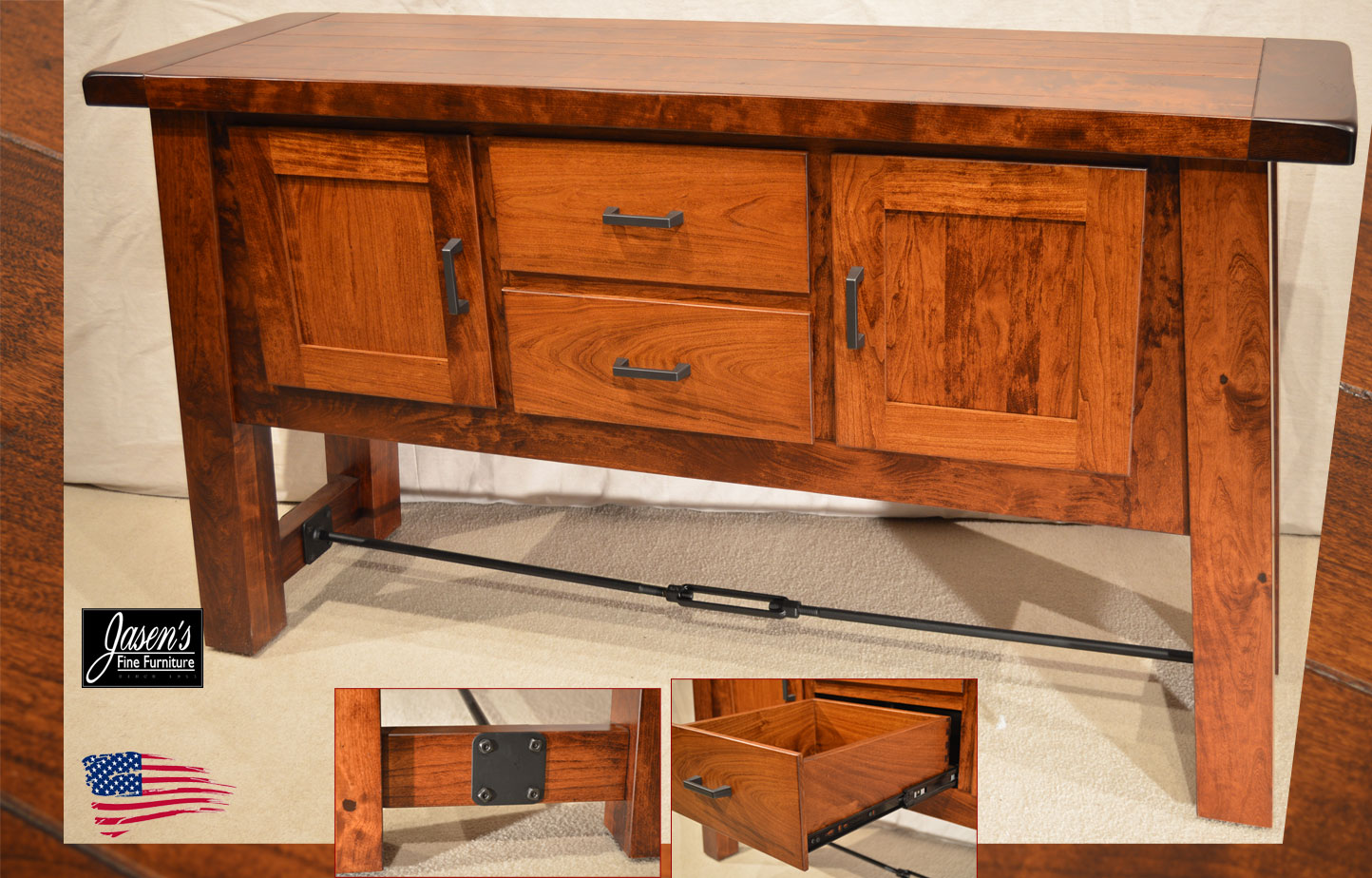 Amish Rustic Dining Room Sideboard Server Buffet Cambridge: Jasen's Fine Furniture- Since 1951
