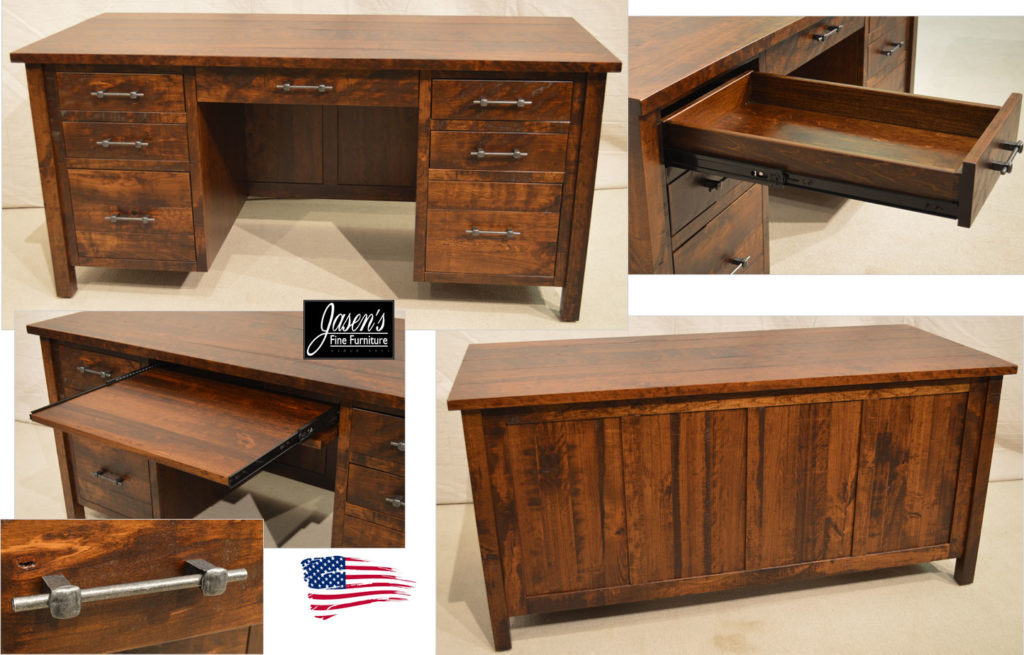 amish timber desk