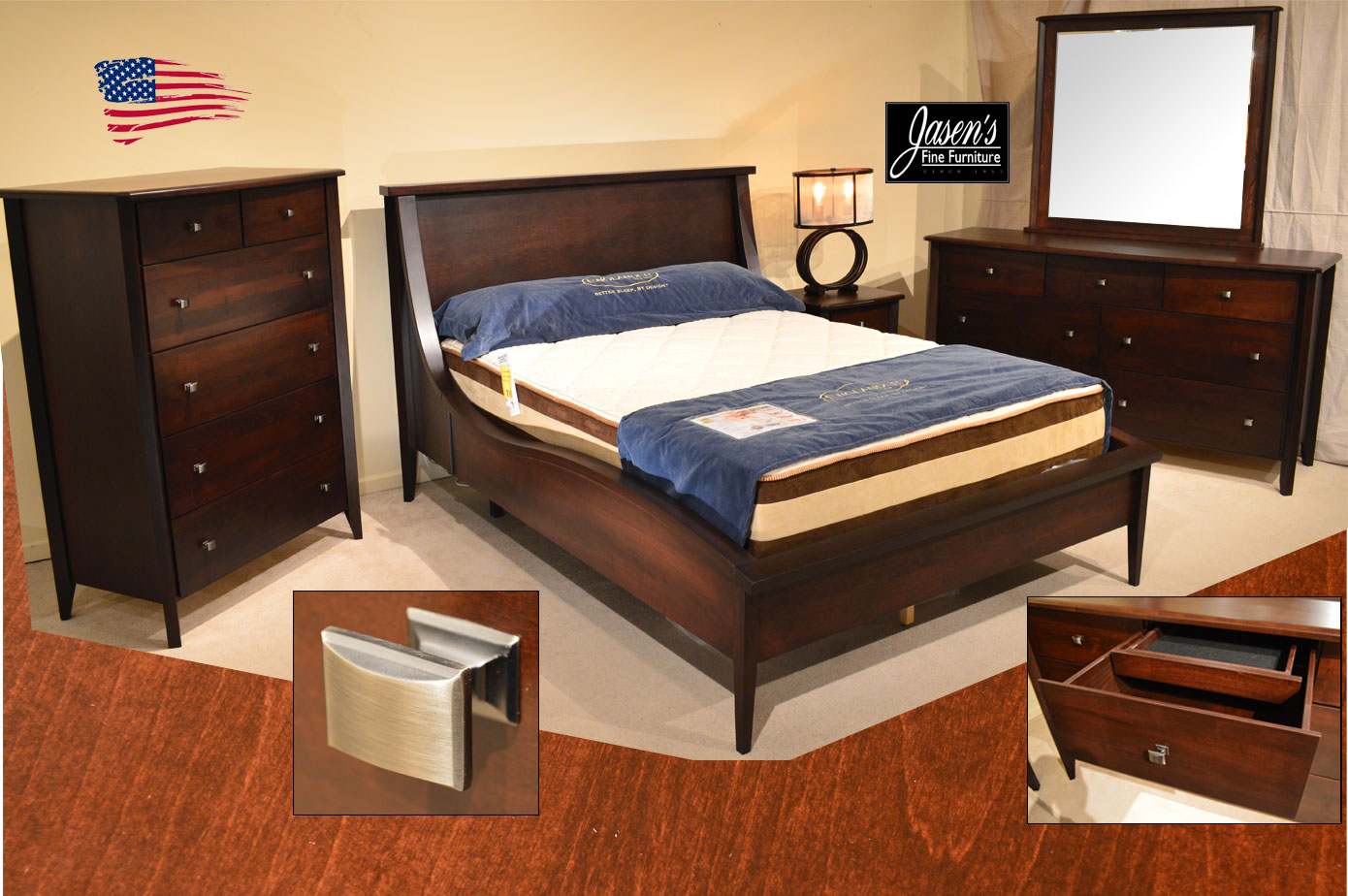 Urban Wave Bed Jasen 39 S Fine Furniture Since 1951