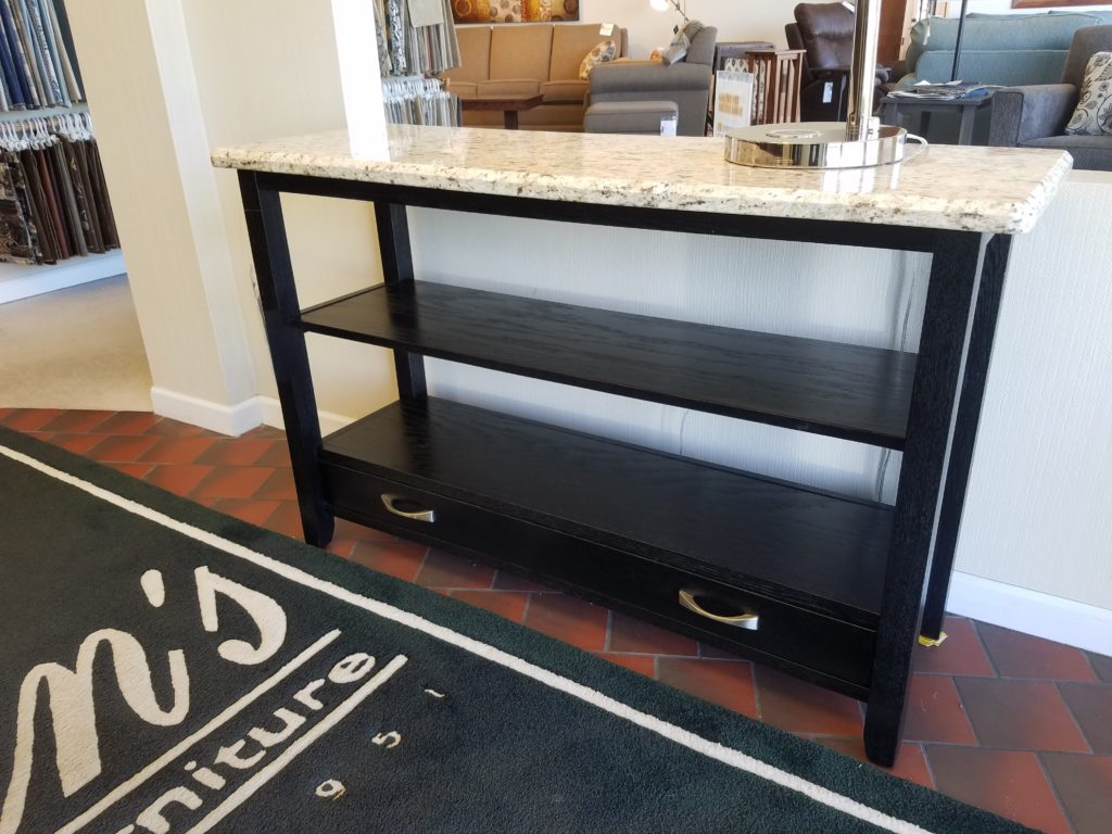Black Oak Granite Sofa Table - Jasen\'s Fine Furniture- Since 1951